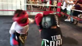 Andrew 5 year old sparring Allen 6 years old