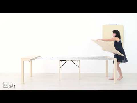 Tavolo Allungabile Lg Lesmo.Tavolo Consolle Allungabile Classica Lg Lesmo Youtube