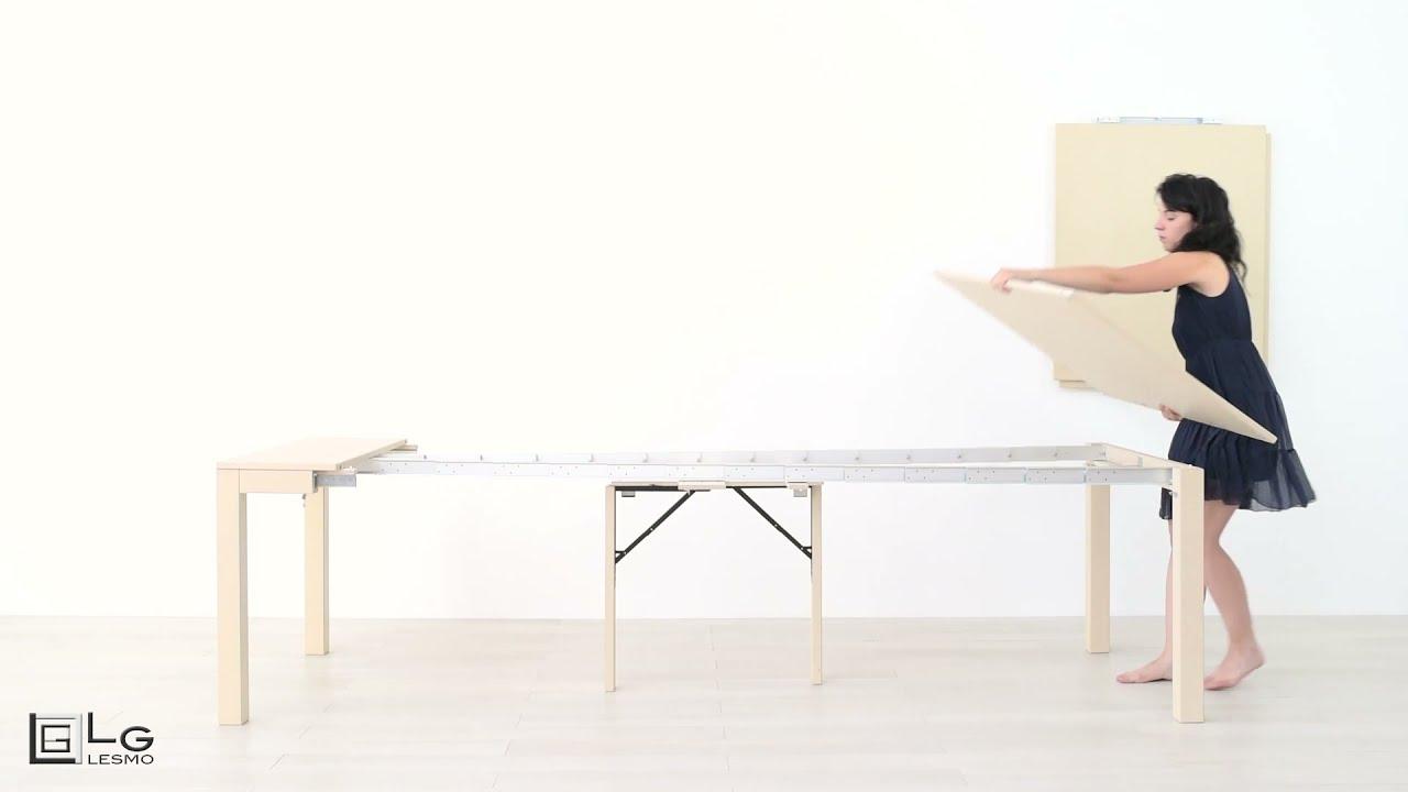 Tavolo Con Gamba Centrale Allungabile tavolo consolle allungabile | lg lesmo