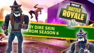 """DIY Dire skin from """"Fortnite"""" season 6! - Clay tutorial"""