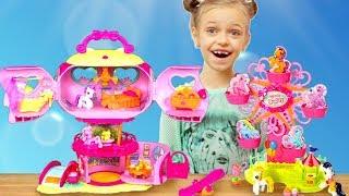 Маленькі Поні - Будиночок і Карусель розпакування іграшки з Ренатою