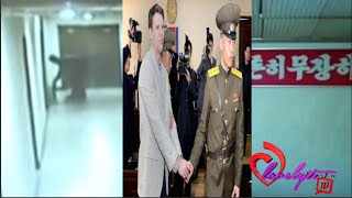 Nk releases video of us student committing the 'crime' that got him sentenced to15yrs