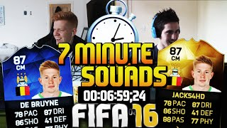 FIFA 16 7 MINUTE SQUAD BUILDER WITH INFORM DE BRUYNE!!! Hybrid SQUAD Builder!