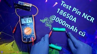Test Pin NCR 18650A và Box sạc dự phòng 2 cell pin Li-ion
