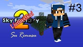 Minecraft Sky Factory 2 Lietuviškai su Remusu // 3 Dalis // Tamsus kambariukas