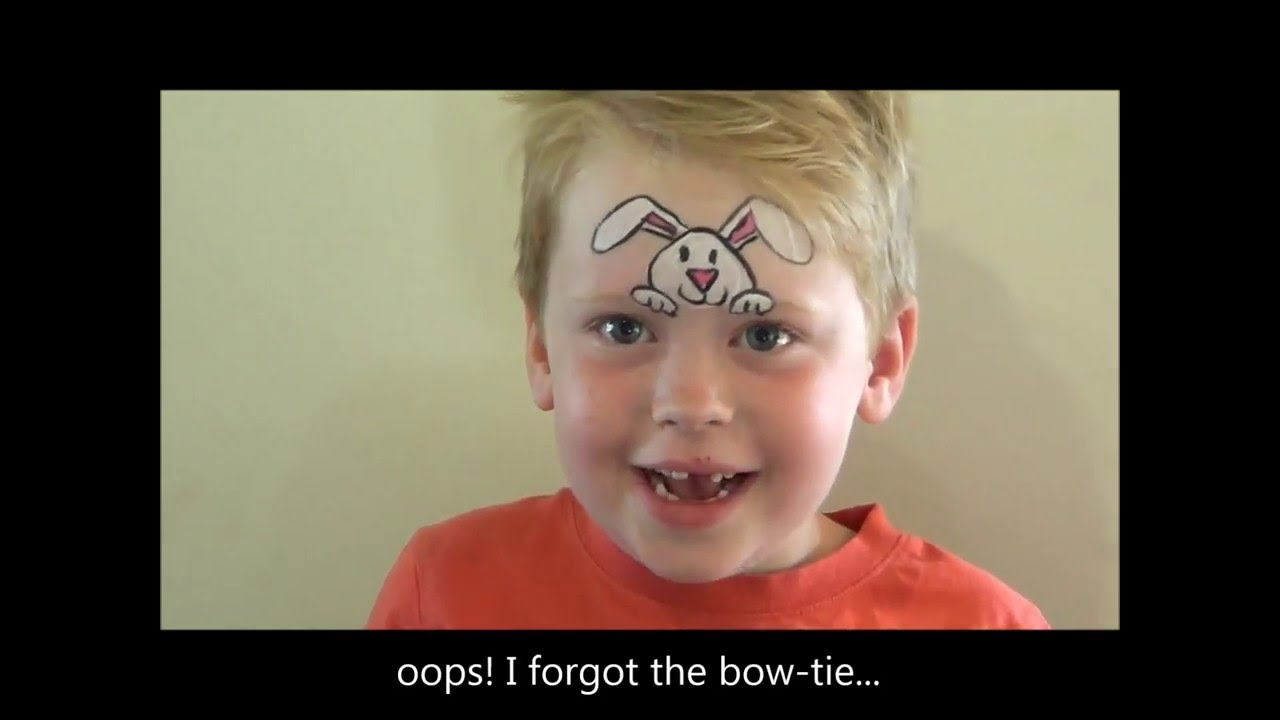 How to face paint an Easter Bunny video tutorial for beginners