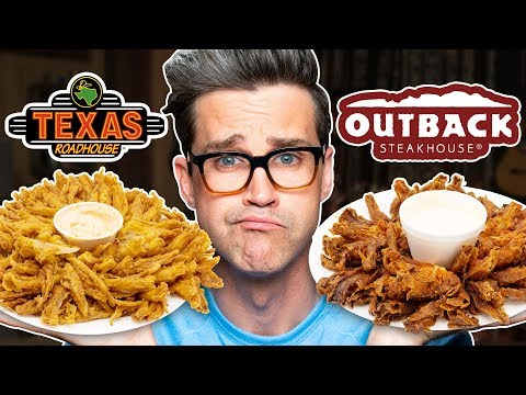 Texas Roadhouse vs. Outback Steakhouse Taste Test | FOOD FEUDS