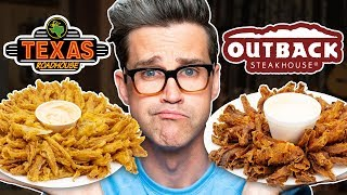 Download Texas Roadhouse vs. Outback Steakhouse Taste Test | FOOD FEUDS Mp3 and Videos