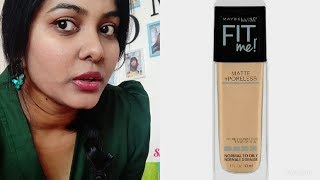 Maybelline fit me foundation demo natural buff 230 shade best foundation for oilyskin