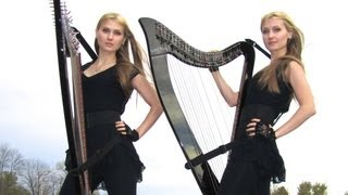 U2 - With Or Without You (Harp Twins electric) Camille and Kennerly