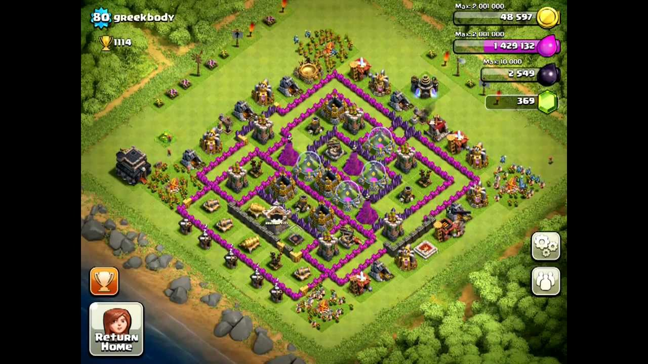Clash of Clans [Defense] Clan member submission v. Lvl 80 ...
