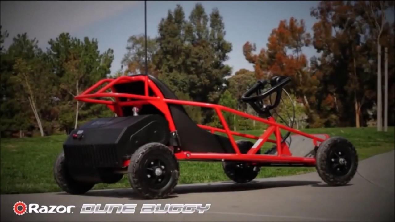 Kids Dune Buggy >> Kids Off Road Go Kart - The Razor Dune Buggy - YouTube
