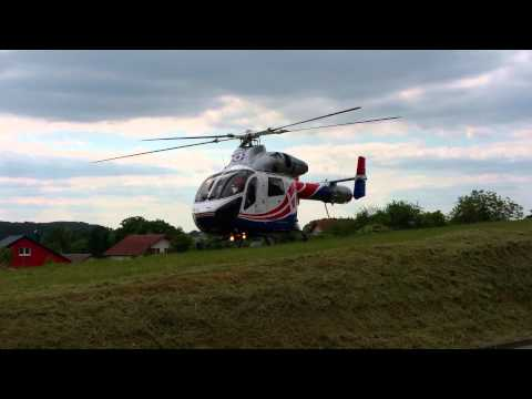 Luxembourg Air Rescue Take Off MD902 Helicopter 4K HD