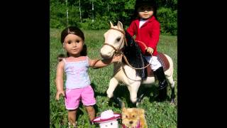 American Girl Doll Summer Photo Shoot With - Jess & Marisol -