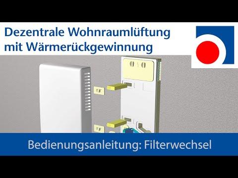 Filterwechsel Wohnraumlüftung WRL-K 75