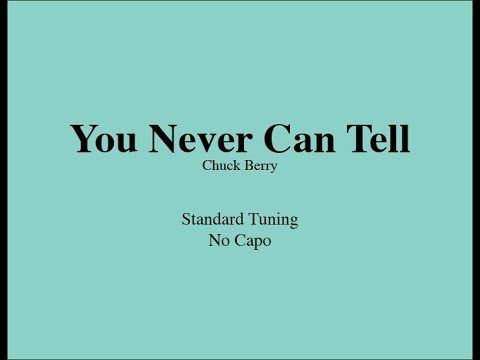 You Never Can Tell - Easy Guitar (Chords and Lyrics)