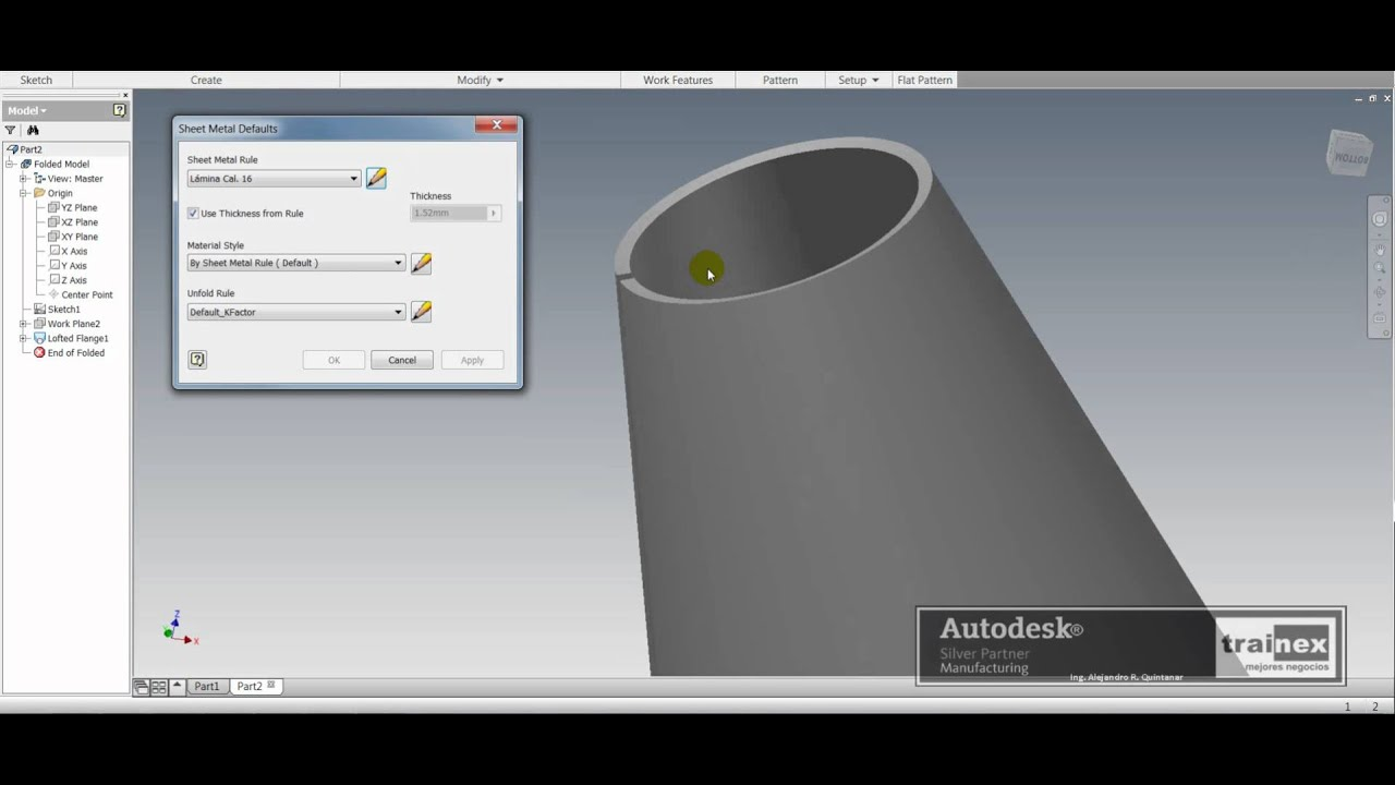Tt St In012 00 2011 Modelado De Conos Sheetmetal Invent