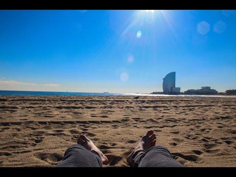Beach Day In January ll Barcelona Vlog. 2