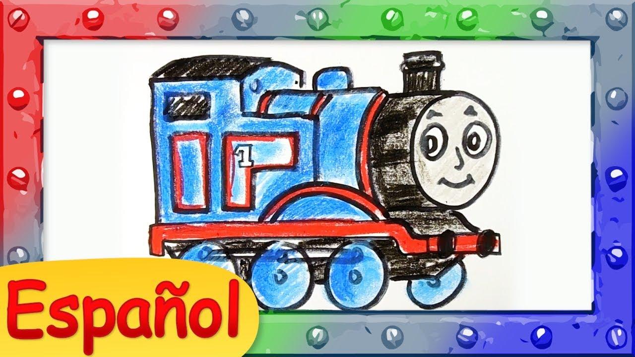 Thomas Y Sus Amigos Como Dibujar A Thomas The Tank Engine Tutorial Animado De Dibujo