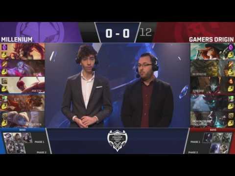 Challenge France csoportkör 6.nap: Millenium vs Gamers Origin (Bo3/1)