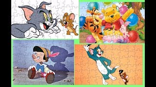 Tom And Jerry Winnie The Pooh Pinocchio Puzzle Games For Kids