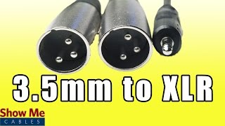 3.5mm Stereo Male to Dual XLR Male - Easily Connect Audio Equipment to a Mixer #27-140-012