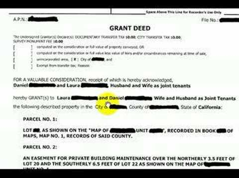 Grant Deed - Youtube