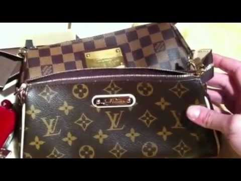 ab9368d38 Louis Vuitton Eva Clutch in Monogram and Key Pouch in Vernis, Unboxing video