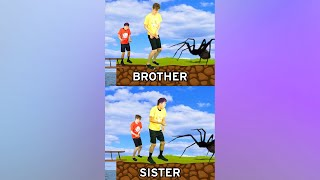 BROTHER vs. SISTER! 😂 #shorts