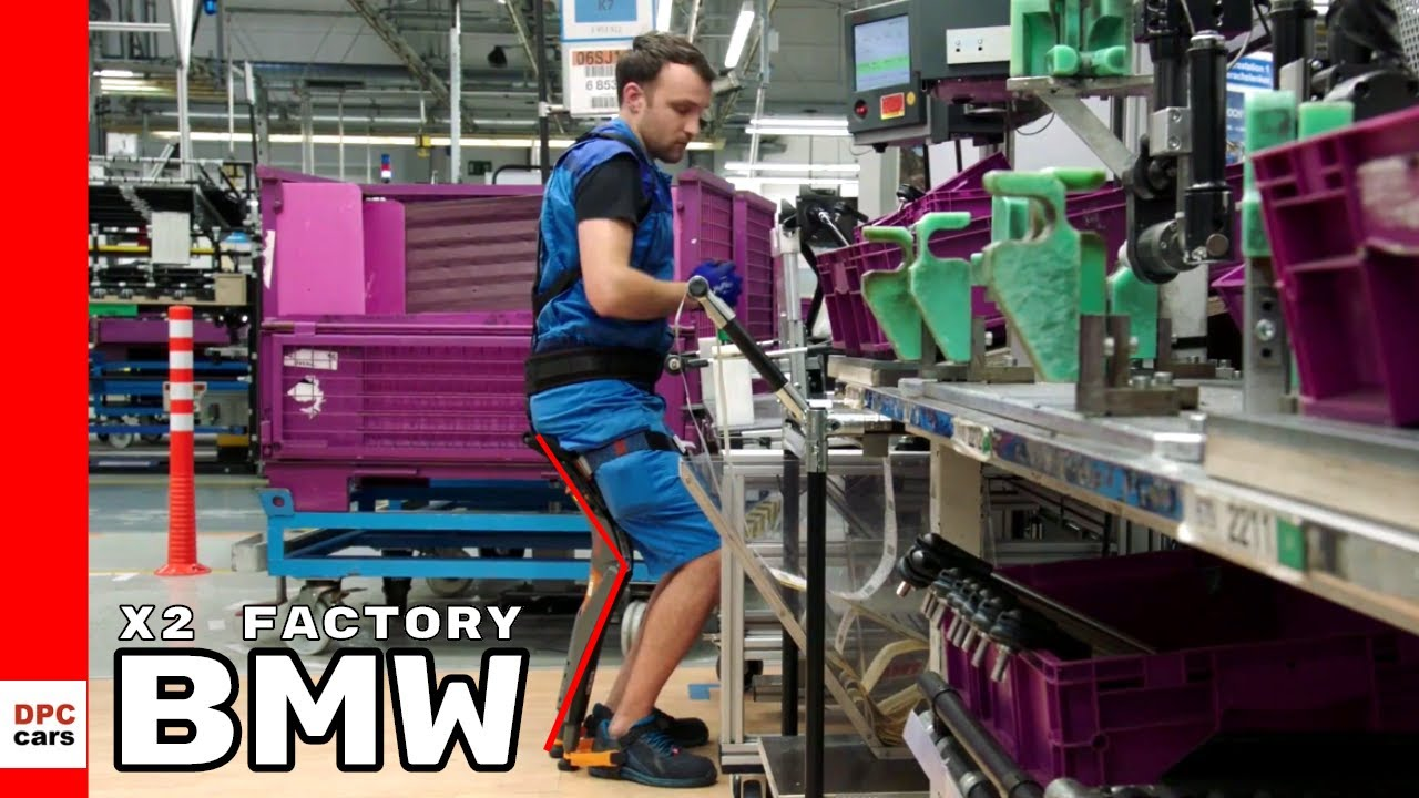 Bmw X2 Factory At Regensburg With Exoskeleton Suits Youtube