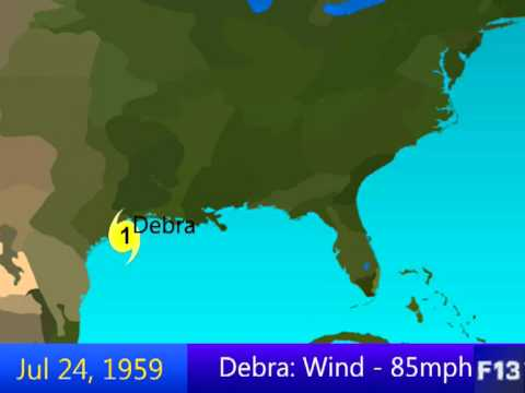 1959 Atlantic Hurricane Season Animation