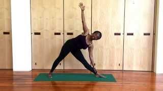 Jaki Nett Teaches Utthita Trikonasana (Triangle Pose) - Iyengar Yoga