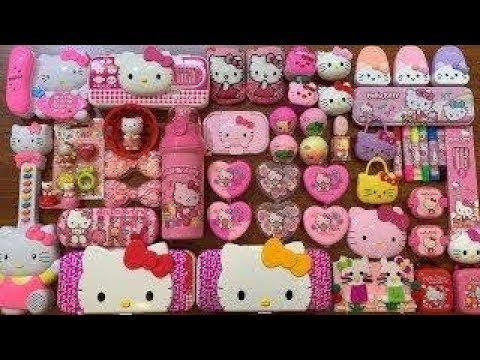 Специальная серия PINK Hello Kitty СМЕШИВАНИЕ СЛИШКОМ МНОГО БУСОВ И БЛИЖАЙШЕГО В ШЛИМ  БУМ СЛАЙМ