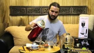 Как варить чай в сифоне. Варка чая пуэр в стеклянном сифоне.(КУПИТЬ СИФОНЫ ДЛЯ ВАРКИ ЧАЯ (и кофе): http://moychay.ru/catalog/posuda/posuda_iz_stekla., 2015-11-30T12:50:46.000Z)