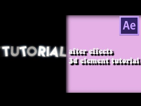 3d element text tutorial || after effects