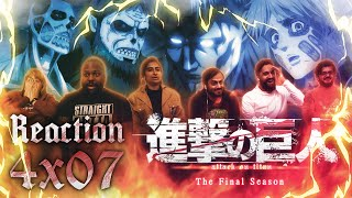 Attack on Titan - 4x7 Assault - The Final Season Group Reaction