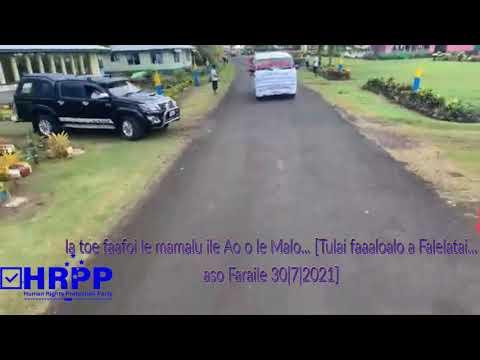 Download 'Ia toe faafoi le mamalu ile Ao o le Malo'..Tulai faaaloalo a Falelatai 30072021