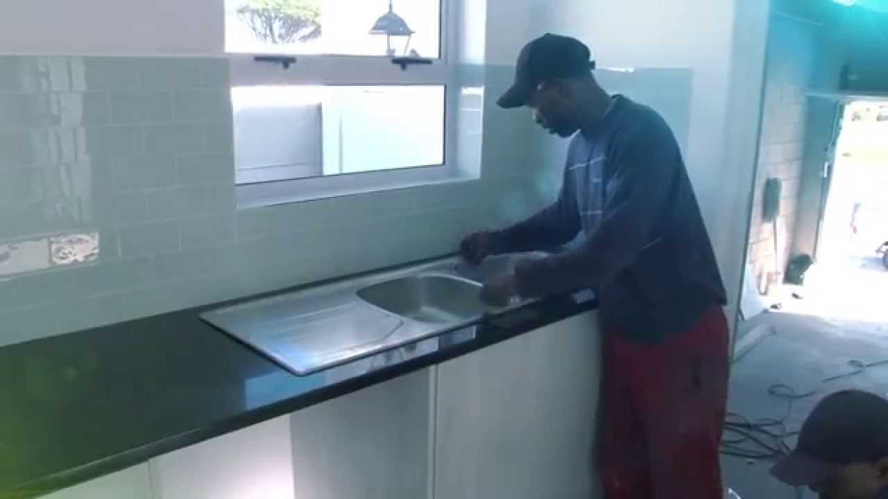 How to Install a Granite Counter Top - YouTube