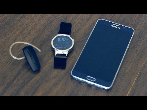 How To Connect Your Bluetooth Headset With An Android Wear Smart Watch And Android Phone. Huawei