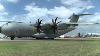 Airbus A400M Atlas Startup Avalon Airshow 2015   (Watch 50FPS)