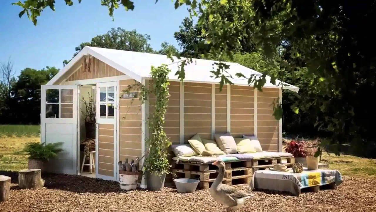 Casette da giardino pvc di grosfillex fb youtube - Casette in legno da giardino ...