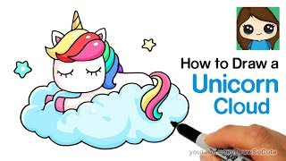 How to Draw a Unicorn on a Cloud Easy