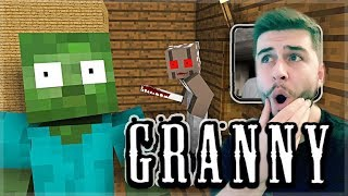 Reacting to Monster School GRANNY HORROR GAME CHALLENGE MOVIE! Minecraft Animation