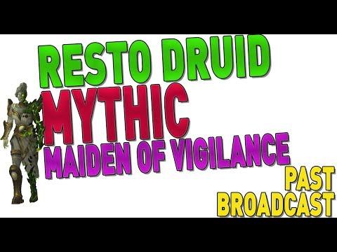 STREAM 🔴 MYTHIC TOMB OF SARGERAS (Maiden of Vigilance Progression) - [931 RESTO DRUID]