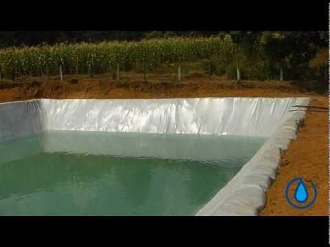 Estanques de geomembrana para la captacion de agua de l for Como criar mojarra tilapia en casa