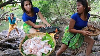 Survival Skills food / Yummy Cooking Chicken wing   Eating Delicious