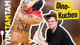 T-REX ANGRIFF in unserer KÜCHE // Jurassic World Dino-Kuchen  // #yumtamtam