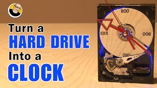 Turn a HARD DRIVE into a CLOCK!