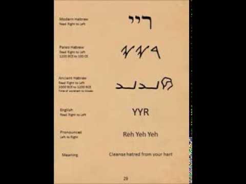 72 Names Of God Ancient Hebrew Paleo Hebrew And Modern Hebrew Alphabets Youtube