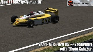 [rFactor] Team ATS Ford D5 @ Zandvoort with Eliseo Salazar (Mod F1 1982 by Varjanta) [HD]
